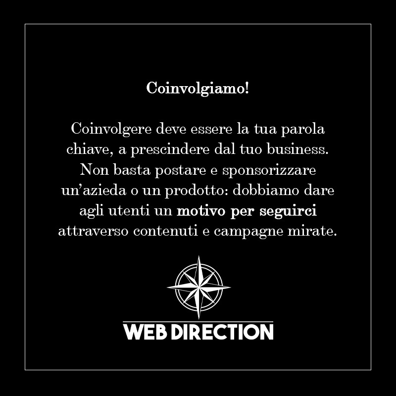 coinvolgere online - web direction