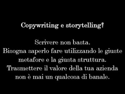 Copywriting & storytelling